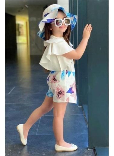 Riccotarz Kız Çocuk Şapkalı Zarf Etekli Mor Şortlu Takım Mor